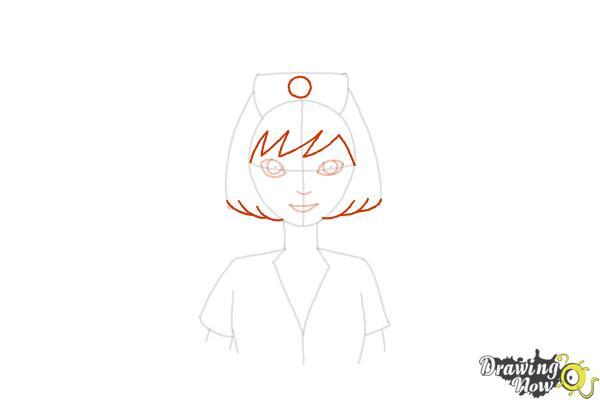How to Draw a Nurse - Step 10
