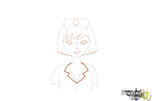 How to Draw a Nurse - Step 11
