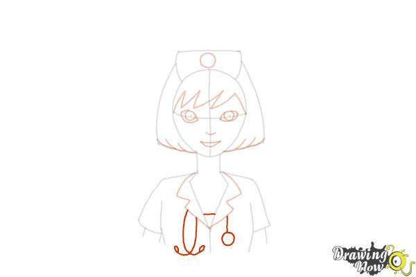 How to Draw a Nurse - Step 12