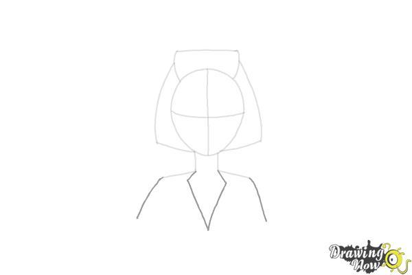 How to Draw a Nurse - Step 6