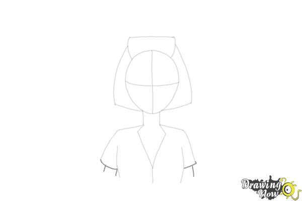 How to Draw a Nurse - Step 8