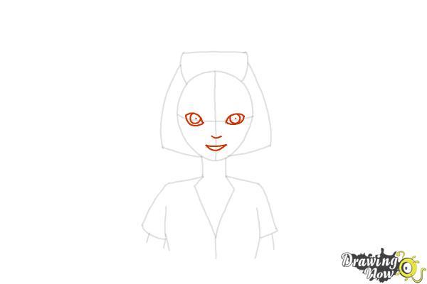 How to Draw a Nurse - Step 9