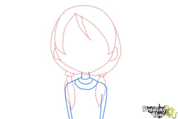 How to Draw a Girl Crying - Step 4