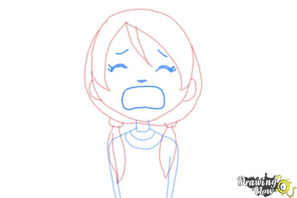 How to Draw a Girl Crying - Step 5
