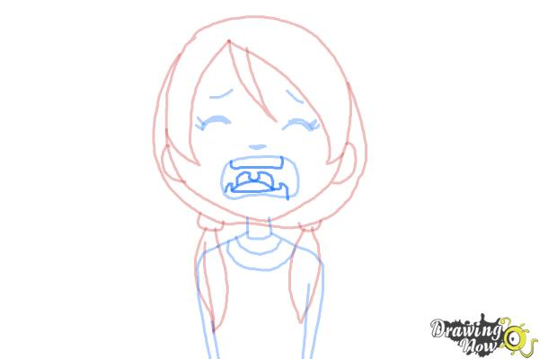 How to Draw a Girl Crying - Step 6