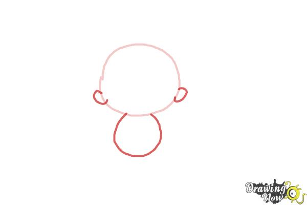 How to Draw a Newborn Baby - Step 2