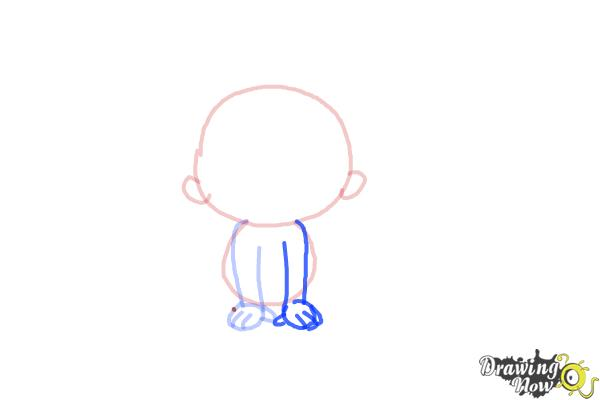 How to Draw a Newborn Baby - Step 4