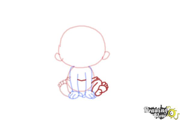 How to Draw a Newborn Baby - Step 6
