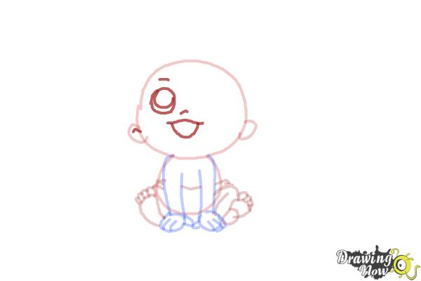 How to Draw a Newborn Baby - Step 7