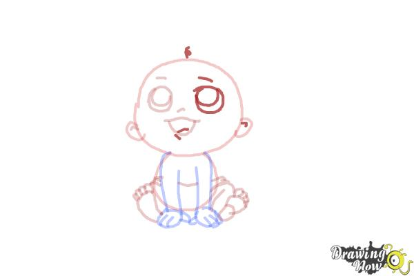How to Draw a Newborn Baby - Step 8