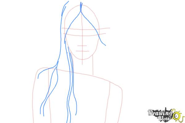 How to Draw Wet Hair - Step 5