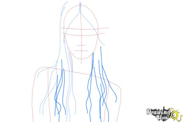 How to Draw Wet Hair - Step 6