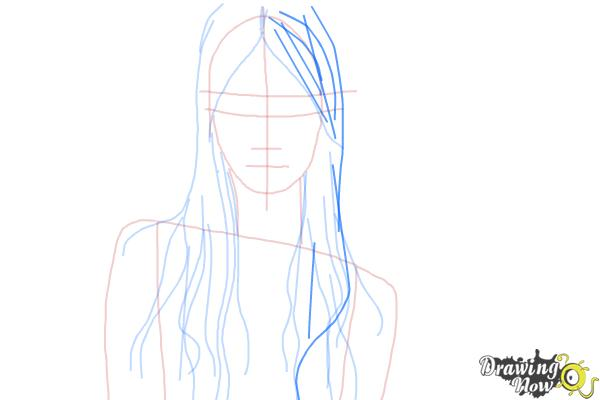 How to Draw Wet Hair - Step 7