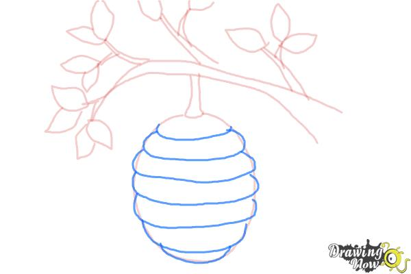 How to Draw a Beehive - Step 6