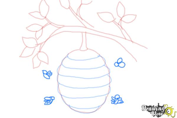 How to Draw a Beehive - Step 7