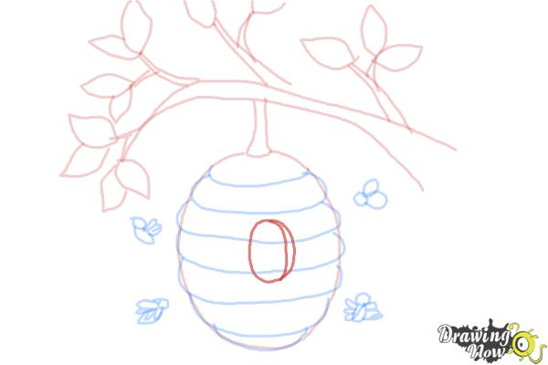 How to Draw a Beehive - Step 8