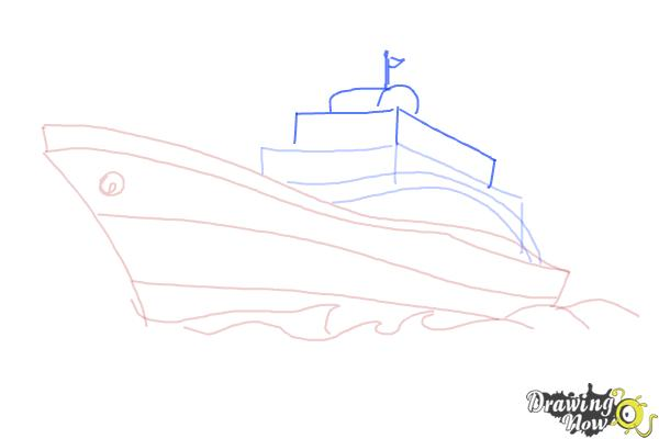 How to Draw a Yacht - Step 5