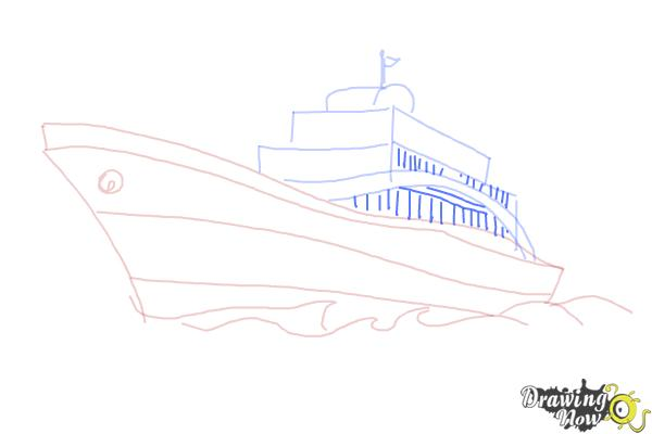 how to draw a yacht step by step