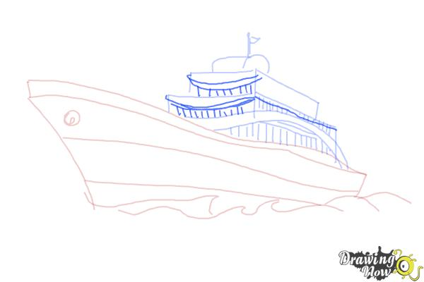 How to Draw a Yacht - Step 7