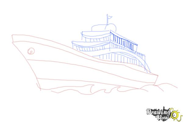 How to Draw a Yacht - Step 8