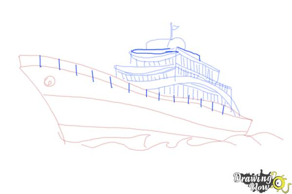 How to Draw a Yacht - Step 9