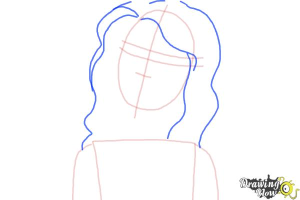 How to Draw Nikki from Barbie: Life In The Dreamhouse - Step 4