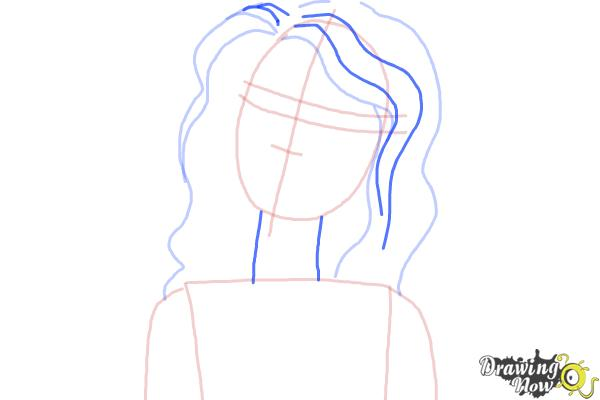 How to Draw Nikki from Barbie: Life In The Dreamhouse - Step 5