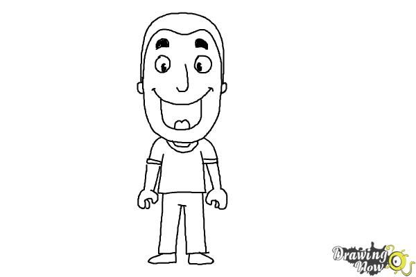 How to Draw a Person For Kids - Step 11
