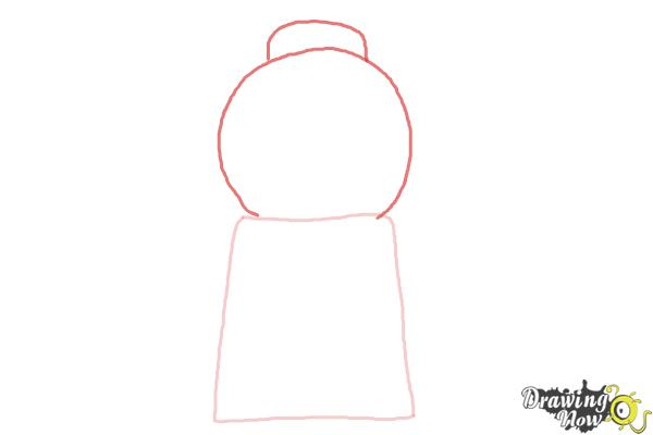 How to Draw a Gumball Machine - Step 2