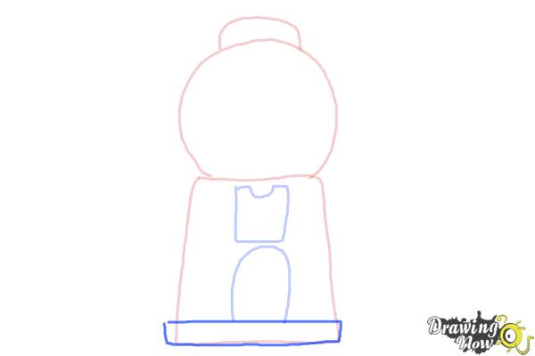 How to Draw a Gumball Machine - Step 4