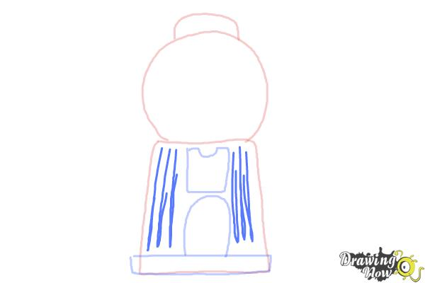 How to Draw a Gumball Machine - Step 5