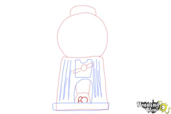 How to Draw a Gumball Machine - Step 7