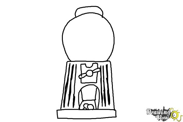 How to Draw a Gumball Machine - Step 8