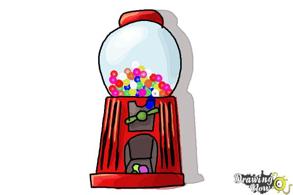 How to Draw a Gumball Machine - Step 9
