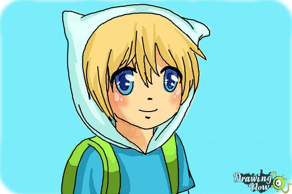 How to Draw Manga Finn from Adventure Time - Step 10