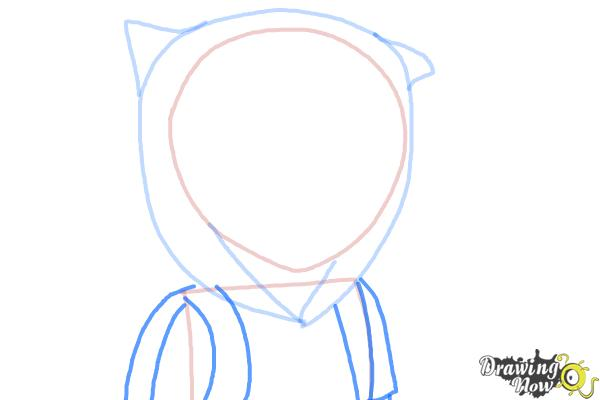 How to Draw Manga Finn from Adventure Time - Step 5