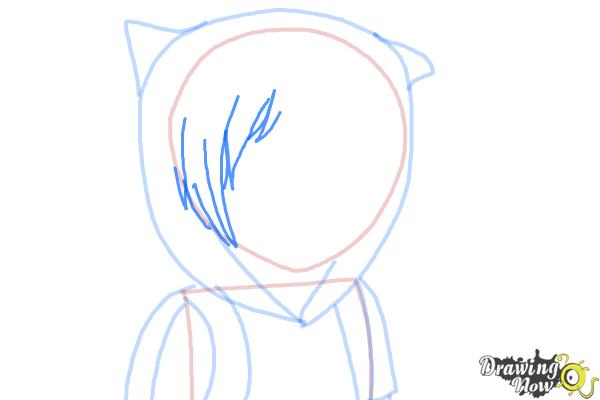How to Draw Manga Finn from Adventure Time - Step 6