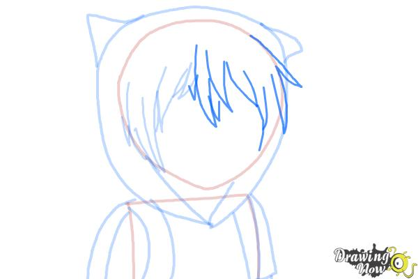 How to Draw Manga Finn from Adventure Time - Step 7
