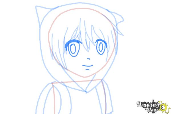 How to Draw Manga Finn from Adventure Time - Step 8