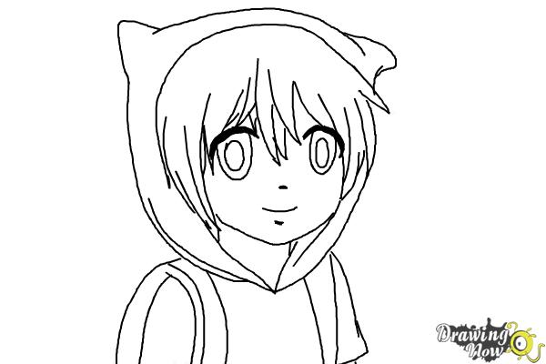 How to Draw Manga Finn from Adventure Time - Step 9