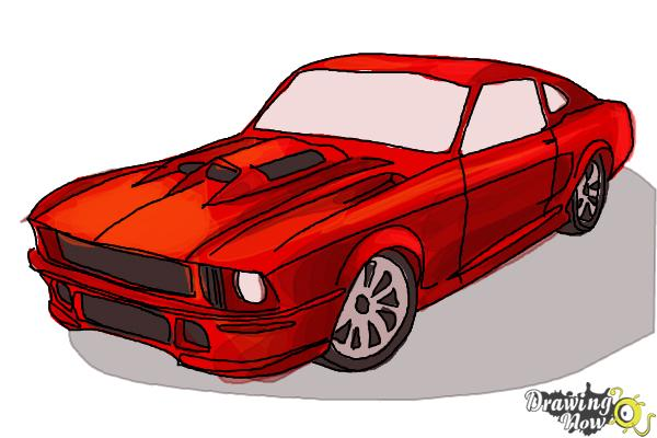 How To Draw A Ford Mustang Step 10