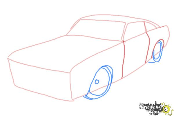 How To Draw A Ford Mustang Step 3