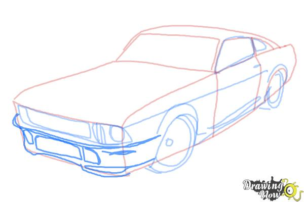 How to Draw a Ford Mustang - Step 6