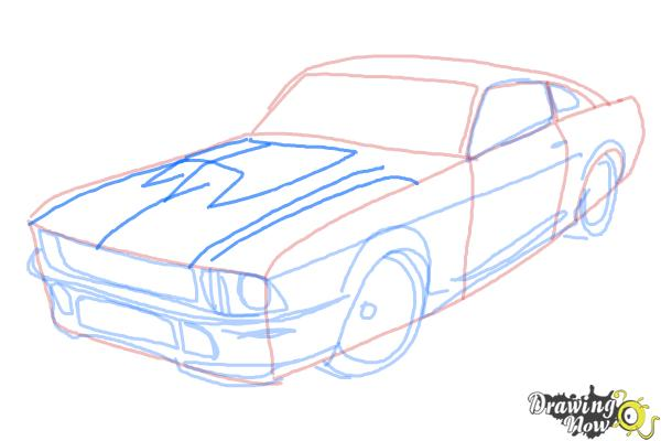 How to Draw a Ford Mustang | DrawingNow