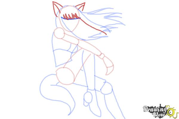 How to Draw Renee from Mew Mew Power - Step 10