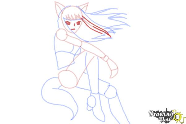 How to Draw Renee from Mew Mew Power - Step 11