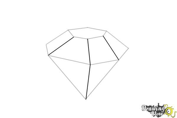 How to Draw Gems - Step 10