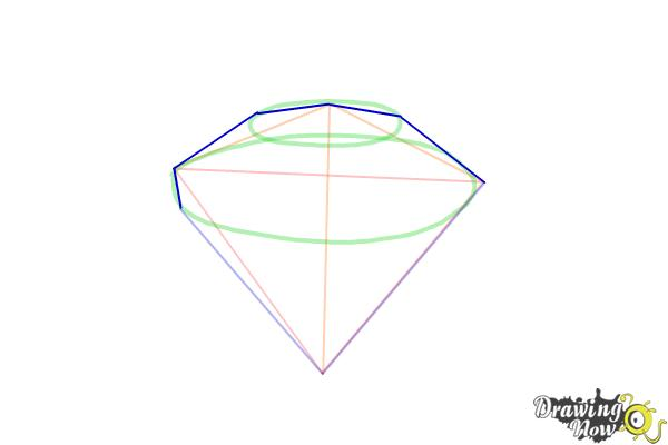 How to Draw Gems - Step 5