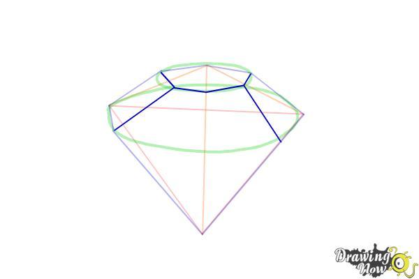 How to Draw Gems - Step 6
