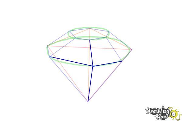 How to Draw Gems - Step 7